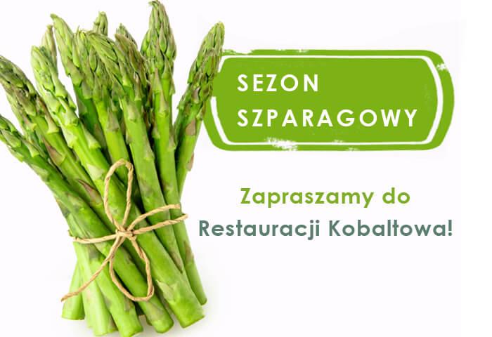Sezonowe dania nabazie szparagów dostępne wrestauracji Kobaltowa