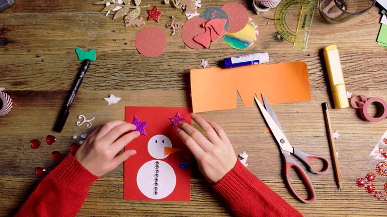 10 pomysłów na proste kartki świąteczne